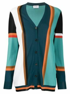 Salvatore Ferragamo colour-block cardigan - Blue