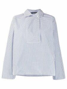 Sofie D'hoore gingham print bib front cotton shirt - Blue