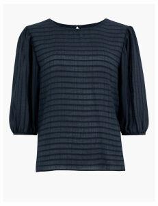 Per Una Striped Blouson Sleeve Blouse