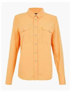 M&S Collection Tencel Relaxed Fit Long Sleeve Shirt