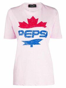 Dsquared2 #D2XPepsi logo print T-shirt - PINK