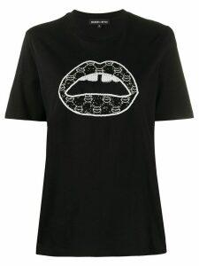 Markus Lupfer Alex Sequin Iconic Lip T-shirt - Black