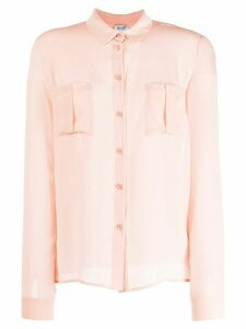 LIU JO silk long-sleeve blouse - PINK