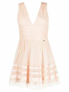 LIU JO sleeveless flared mini dress - PINK