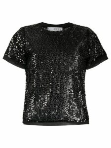 In The Mood For Love Swift sequin embroidered top - Black