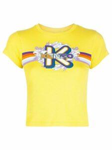 Kenzo graphic-logo print T-shirt - Yellow