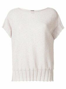 Lorena Antoniazzi boat neck knit top - White