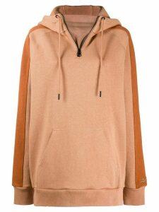Reebok x Victoria Beckham oversized drawstring hoodie - Brown