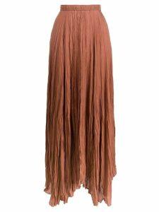 Joseph pleated handkerchief-hem maxi skirt - NEUTRALS