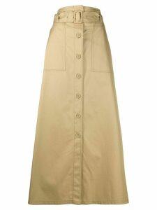 Mm6 Maison Margiela long belted skirt - NEUTRALS