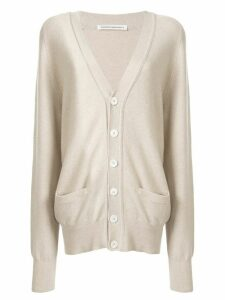 Extreme Cashmere oversized knitted cardigan - NEUTRALS