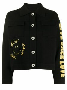 Sandro Paris embroidered knitted jacket - Black