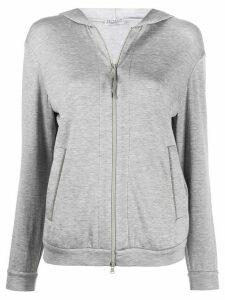 Brunello Cucinelli zip front hoodie - Grey