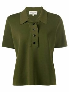 YMC oversized knitted polo shirt - Green