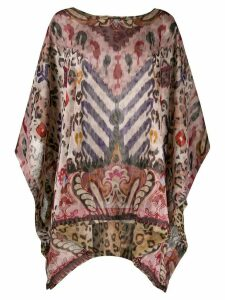Etro abstract print poncho top - NEUTRALS