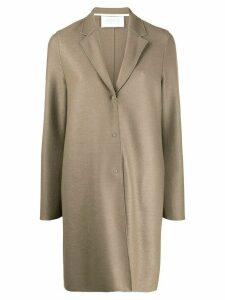 Harris Wharf London single breasted coat - Brown