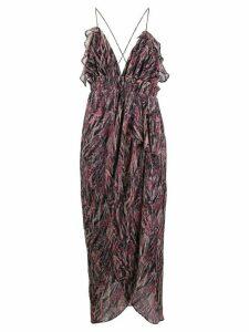 IRO abstract pattern slip dress - PINK