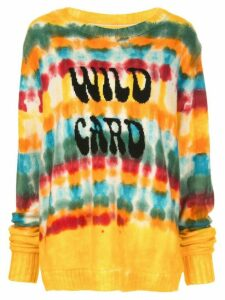 The Elder Statesman long sleeve tie-dye print jumper - Yellow