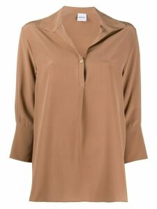 Aspesi boxy V-neck shirt - Brown