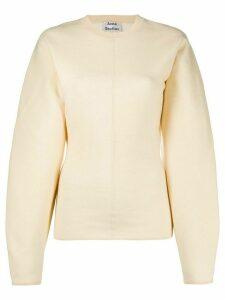 Acne Studios blouson-sleeve jumper - NEUTRALS