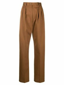 Etro high-waisted straight-leg trousers - Brown