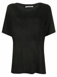 Acne Studios short-sleeved linen T-shirt - Black