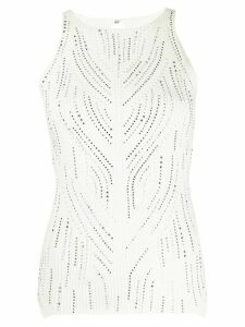 Ermanno Scervino stud embellished knitted top - White