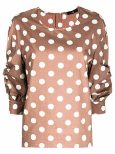 Steffen Schraut polka-dot print blouse - Brown
