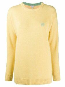 Loewe knitted logo jumper - Yellow