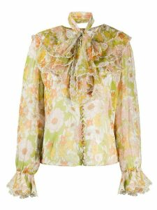 Zimmermann Super Eight silk blouse - Green