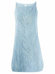Ermanno Scervino fine knit mini dress - Blue