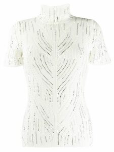Ermanno Scervino roll neck knitted T-shirt - White