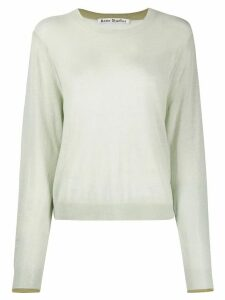 Acne Studios sheer knitted jumper - Green