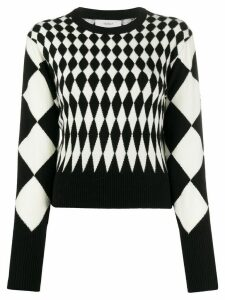 Pringle of Scotland diamond intarsia jumper - Black