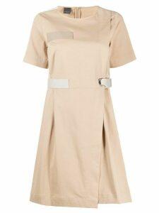 Lorena Antoniazzi colour block mini dress - NEUTRALS
