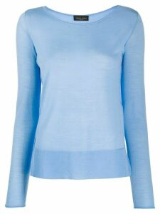 Roberto Collina round neck jumper - Blue