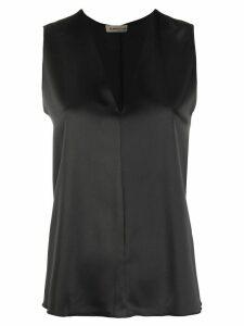 Blanca Vita sleeveless v-neck blouse - Black