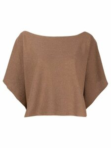 D.Exterior glitter detail knit top - Brown