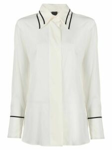 Lorena Antoniazzi contrast trim loose-fit shirt - White