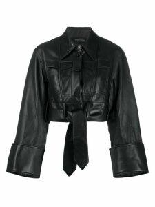 Rokh cropped shirt jacket - Black
