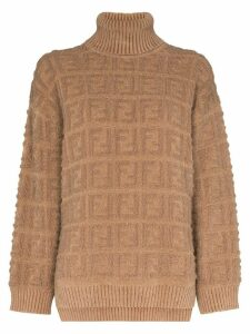 Fendi FF motif knit jumper - Brown