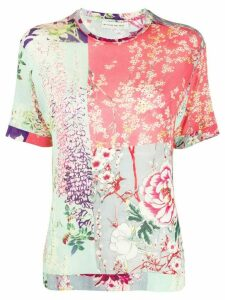 Etro floral print T-shirt - Blue