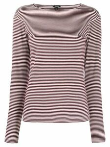 Aspesi long sleeve striped-knit pullover - Red