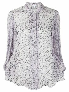 Lala Berlin leopard print fitted blouse - PURPLE