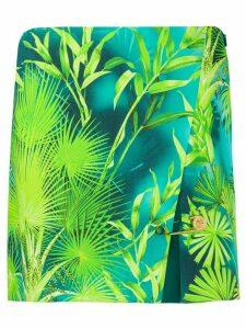 Versace palm tree print skirt - Green