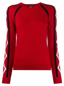 Perfect Moment Super Stripes jumper - Red
