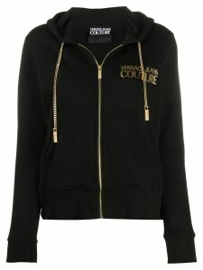 Versace Jeans Couture logo-print zipped hoodie - Black