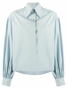 Deveaux balloon sleeve shirt - Blue