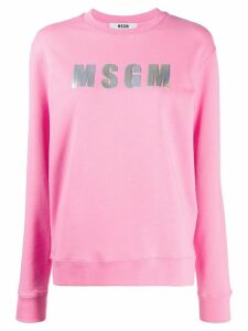 MSGM logo patch sweatshirt - PINK