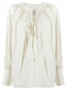 L'Autre Chose tie-neck blouse - NEUTRALS